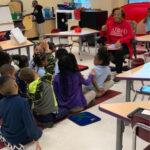SLA Chapter Member at Obama Elementary School